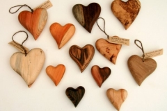 Wooden Hearts, Leaf Candles and Bud Vases