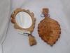Oak and Elm Leaf Hand Mirror